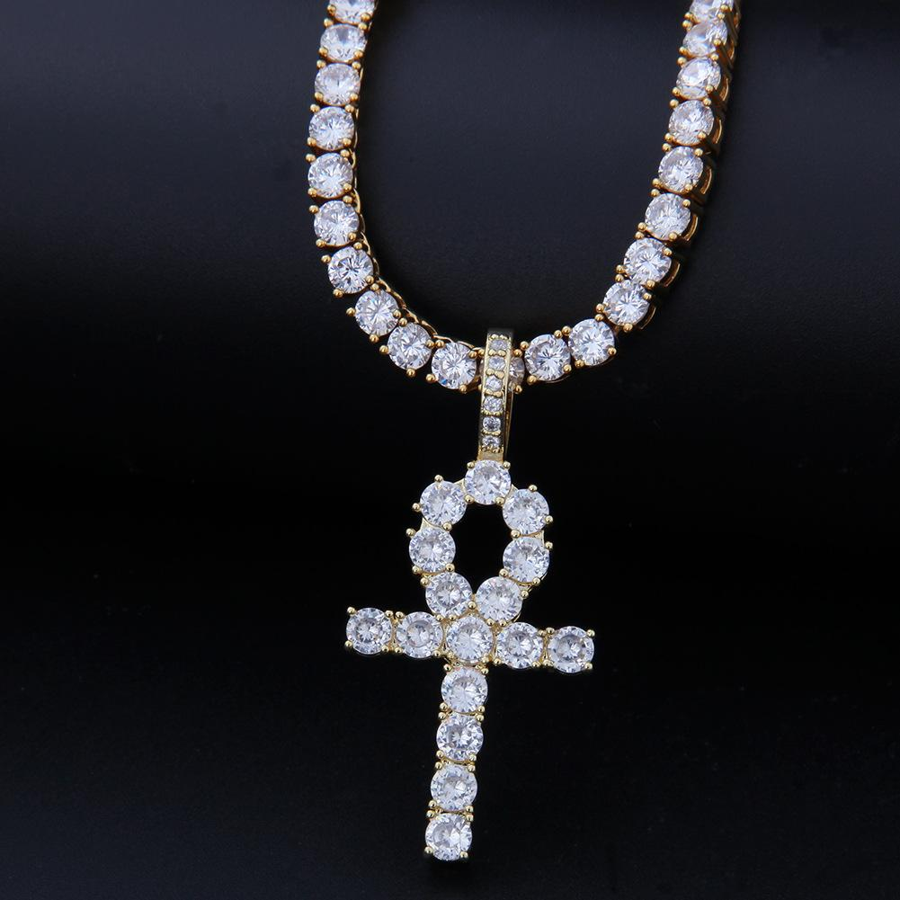 Gold Argento Colore Bling CZ Cross Iced Out Cubic Zirconia Collane Collane Pendenti per uomini Donne Charmjewelry