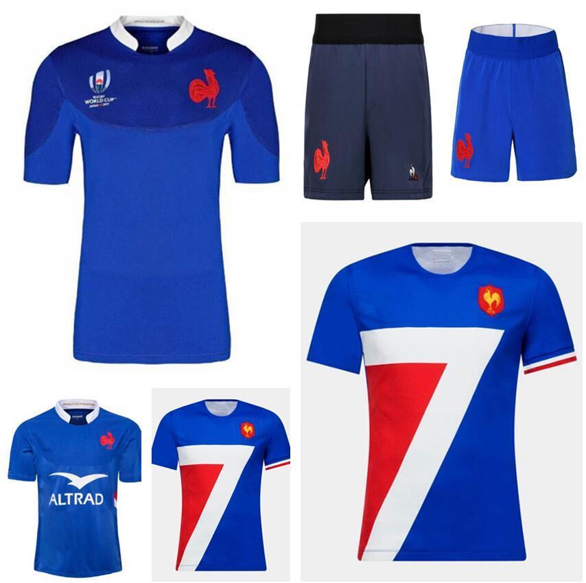 2021 프랑스 럭비 유니폼 국립 대답 럭비 반바지 리그 저지 프랑스 Maillot Camiseta Maglia Tops S-5XL Trikot Camisas Kit Tops