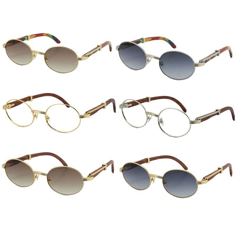 도매 장식 공작 나무 선글라스 여성 또는 남성 목조 18K 골드 금속 원래 안경 크기 : 53-22-135mm