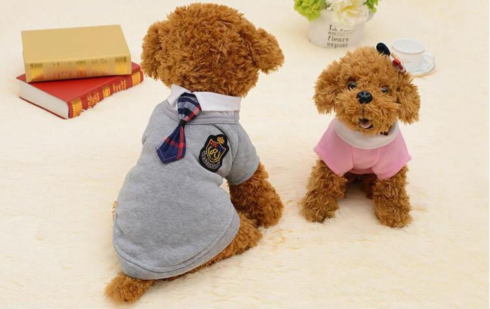 كلب الملابس الحرميات الحيوانات الأليفة الملابس الأزياء الملابس البريطانية تيدي المدرسة الزي الرسمي