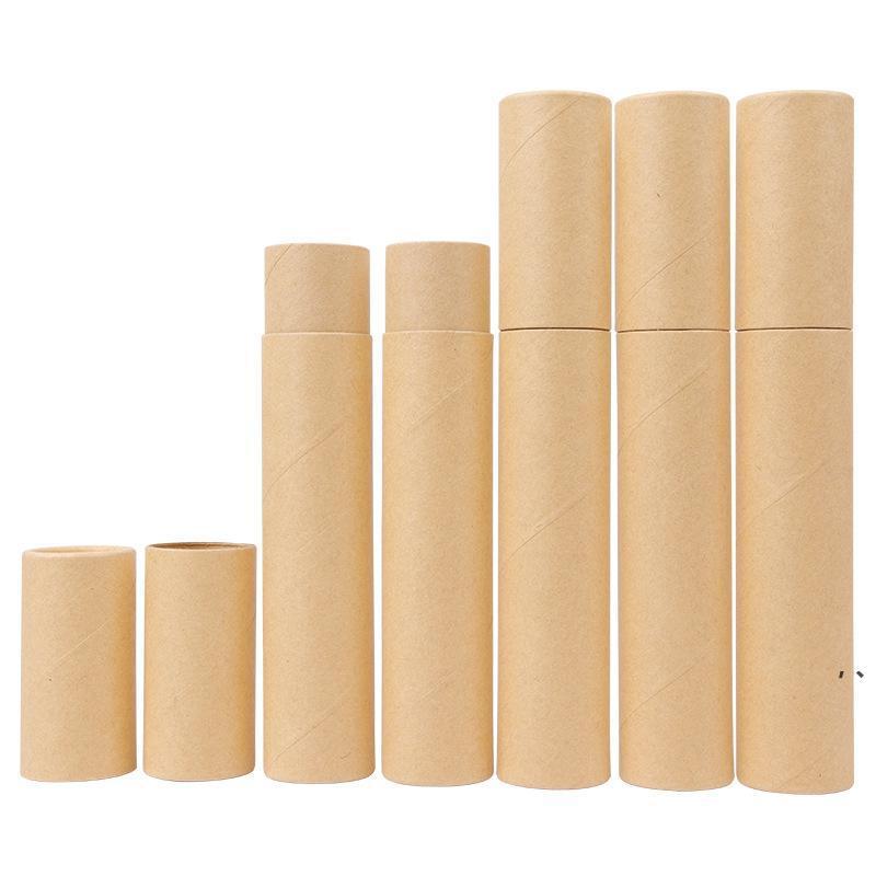 Tubo de incienso de papel kraft negro Barril de incienso pequeña caja de almacenamiento para lápiz Joss Stick conveniente que lleva NHE6896