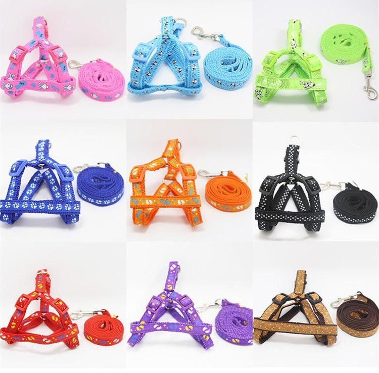 120cm Length Patch Pet Leashes Nylon Dog Chain Pets Supplies Cat Puppy Harnesses Walking Chihuahua S M Sizes