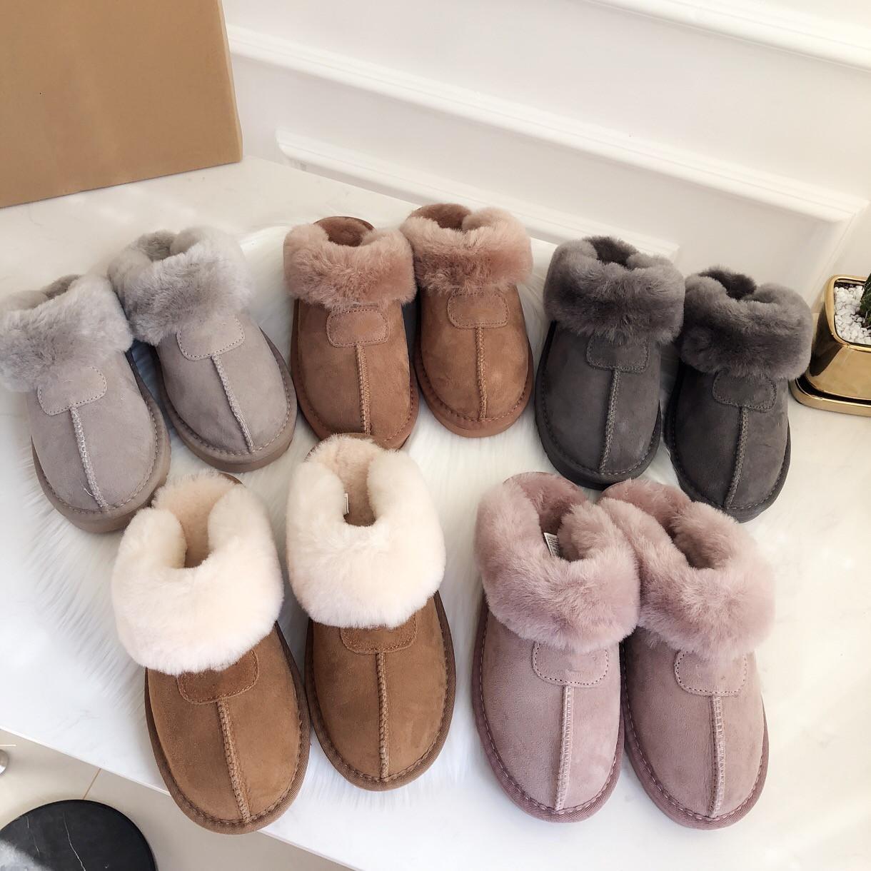 القطن النعال الرجال النساء الثلوج الأحذية الدافئة عارضة داخلي منامة حزب ارتداء غير زلة القطن السحب كبيرة المرأة الأزياء والأحذية حجم 35-45 UG S51250