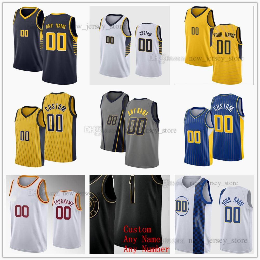 Jerseys de baloncesto impreso personalizado DOMANTAS 11 SABONIS MALCOLM 7 Brogdon Myles 33 Turner Caris 22 Levert 1 Warren Jeremy 26 Lamb Justin 8 Holiday Jersey