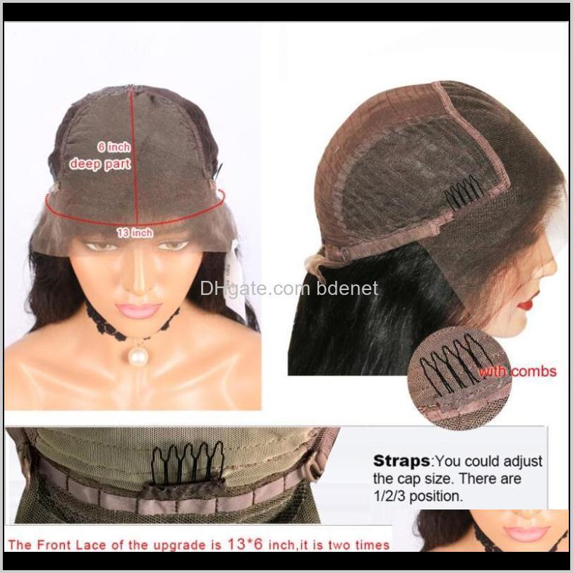 Produtos de cabelo Drop entrega 2021 Brasileira 180density Chocolate Brown Body Wenk Wigs para as mulheres 360 frontal Remy Silk Top Top Lace U PA