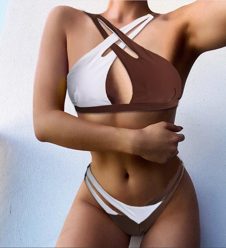 Maillot de bain de bandoulière croix sexy pour femmes bikini