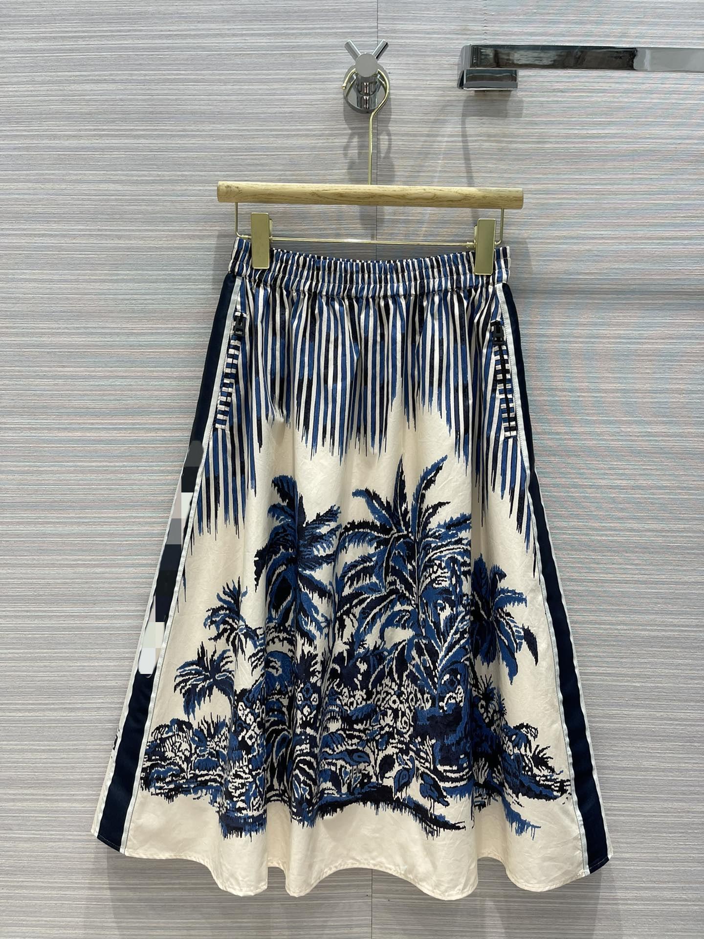 2021 İlkbahar Yaz Sonbahar Milano Tasarımcı Etekler Moda Bir Etek Kadın Marka Aynı Stil Etekler 0416-6