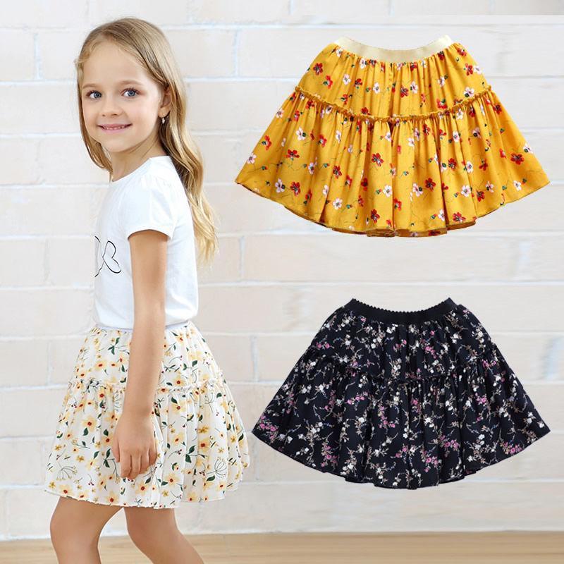 Yaz Çocuklar Bebek Kız Moda Sevimli Tutu Etekler Çiçek Baskı Prenses Bale Dans Parti Etek Çocuk Giyim X204