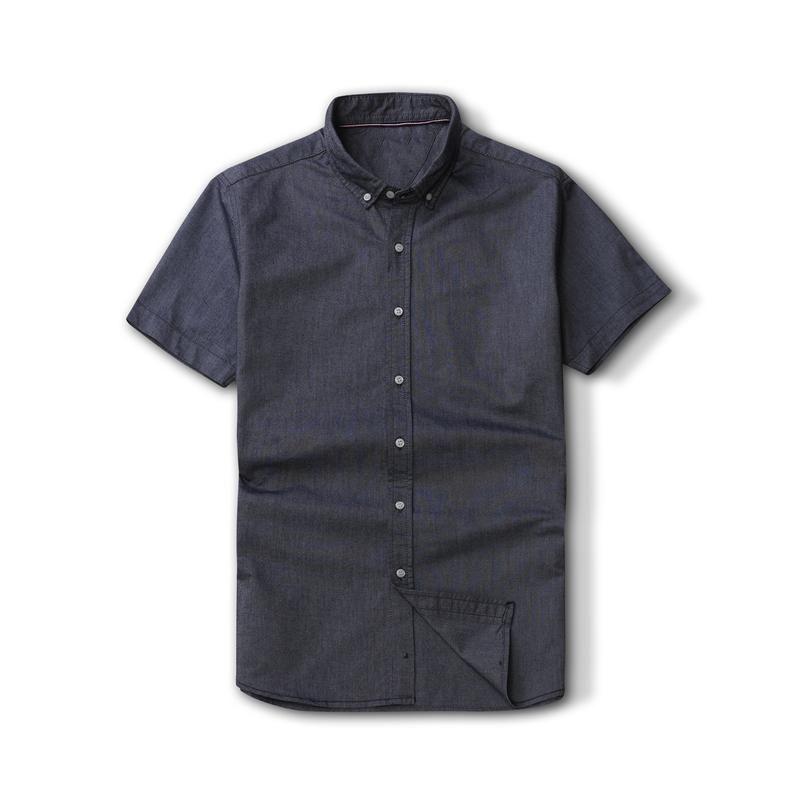 Hombre de alta calidad 100% grueso algodón camisa masculina hombres manga corta vestido camisas moda casual hombre masculino