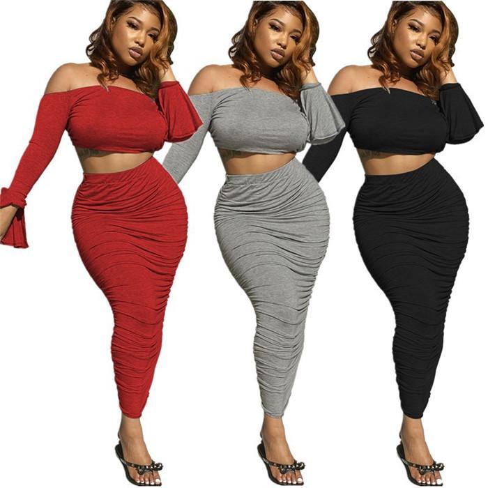 إمرأة مثير مكدسة 2 قطع اللباس المرأة الصيف مصمم مضيئة كم blackless مجموعات النساء أنبوب الأعلى مع الدعاوى تنورة غير النظامية
