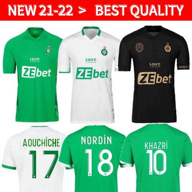 2021 2022 MAILLOT DE FUCE AS SAINTS-Étienne Fussball Jersey Mann Kinder Kit Youssouf 21 22 St Etienne Khawnri Boudebouz Aholou Asse Football Shirt