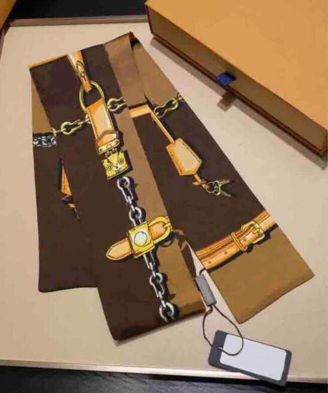 Trendy Designer Schals für Frauen Square Schals Nackenkrawatte Stirnbänder Super Weiche Top Seidenbänder Haarbänder Krawatten 120 * 8cm Multi Option