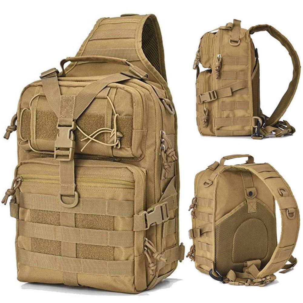 20l taktischer Rucksack Militärische Angriffsbeutel Armee Molle EDC Rucksack Outdoor Multifunktions-Camping Jagd Wasserdichte Sling Pack 201123