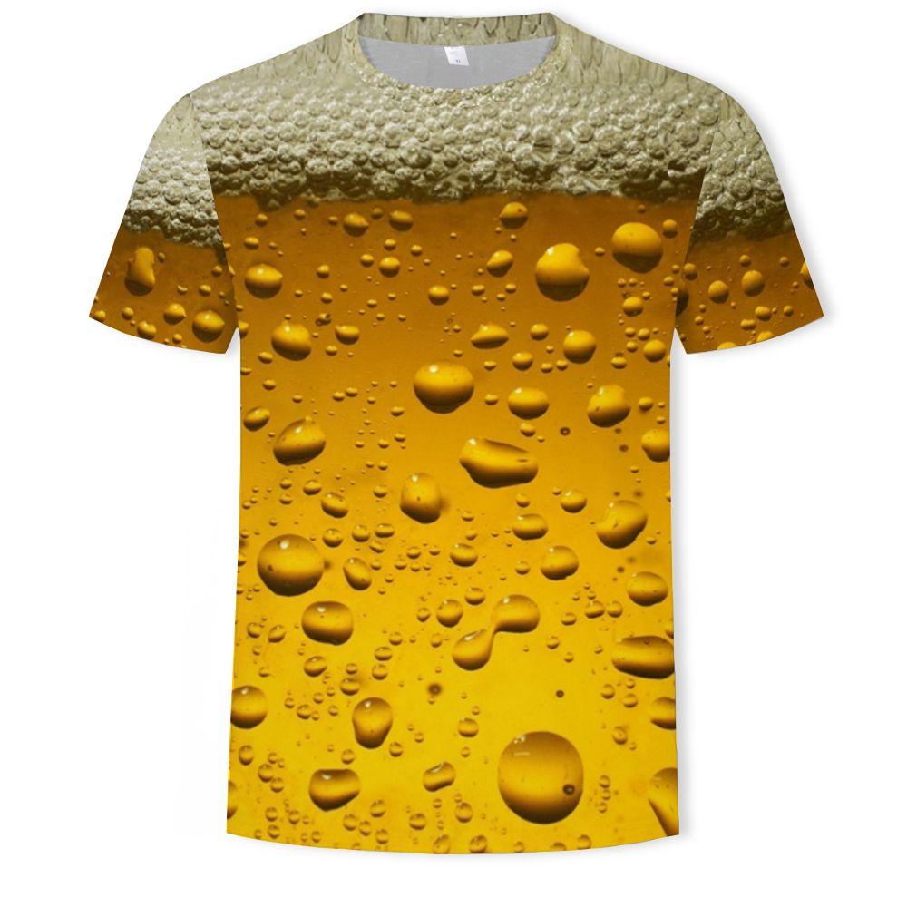 2021 Beer Water Drop Wine Glass Element Men T-Shirts Summer 3D Print Casual Streetwear Cosplay Costume T Shirt Fashion Harajuku Top Tees Unisex Clothing