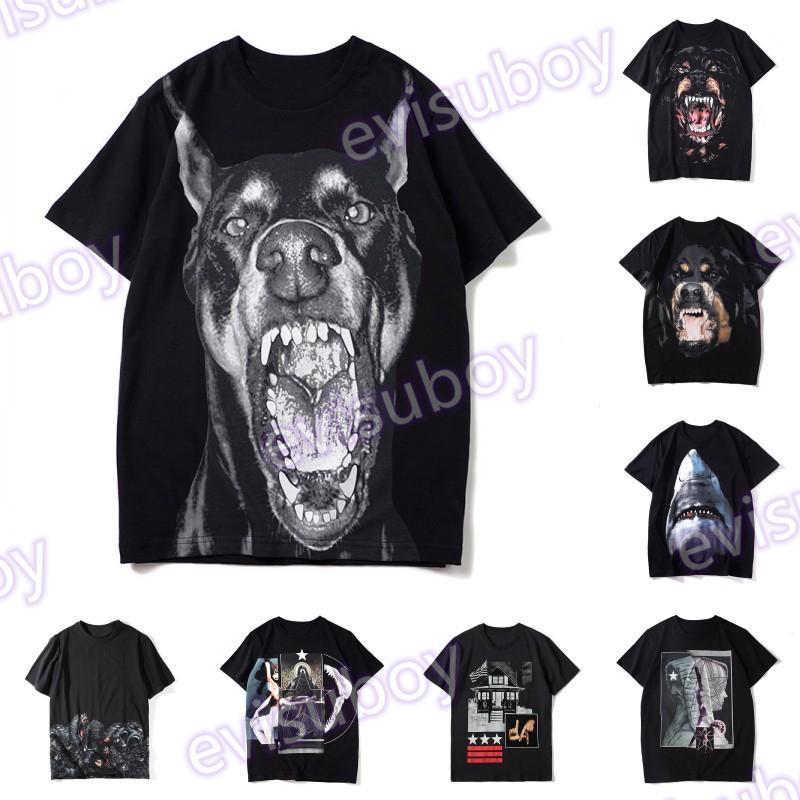 Verão Mens Designer Camisetas Homens Mulheres Roupas 3D Orangotango Manga Curta Hip Hop Casais Padrão Animal Tees Tamanho S-XXL