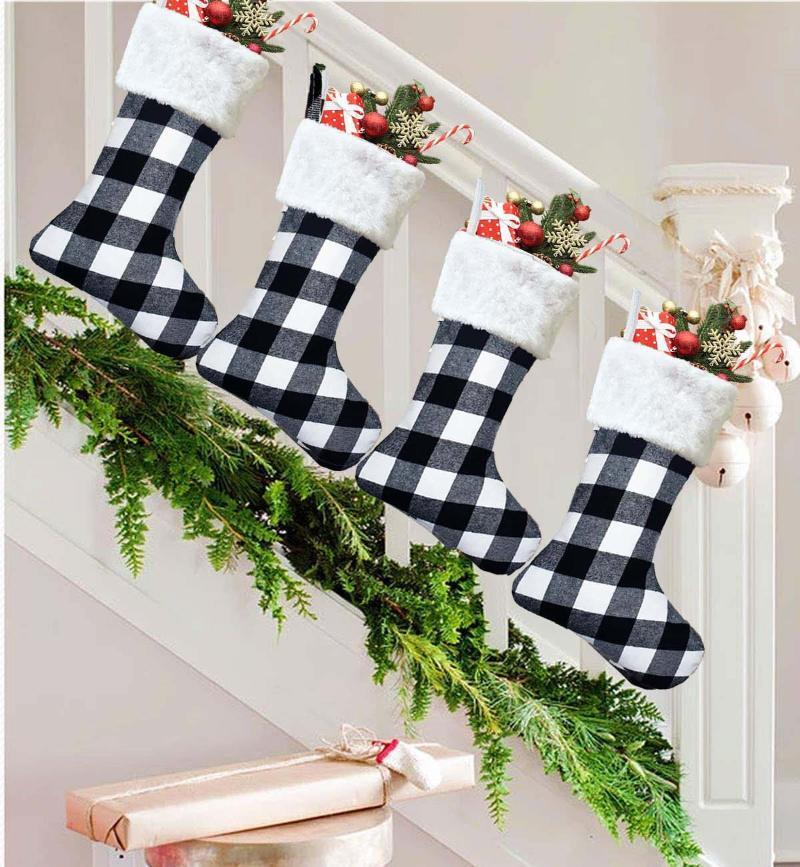 Decoraciones de Navidad Medias de Navidad Regalo Candy Bag para el hogar Natal Navidad Sock Año Decoración del árbol
