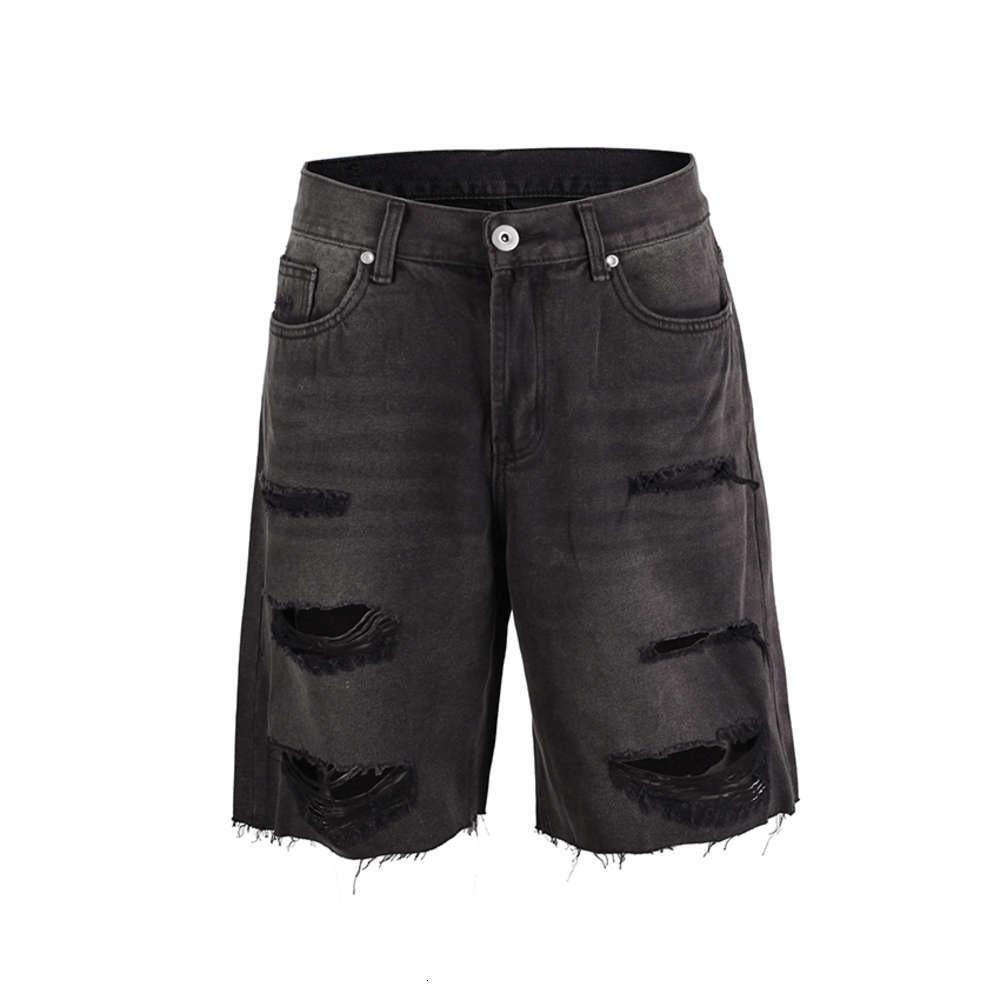 Summer Men's Ripped Hole Shorts Jeans Hip Hop High Street New fashion Casual Jeans Holiday Beachwear Short