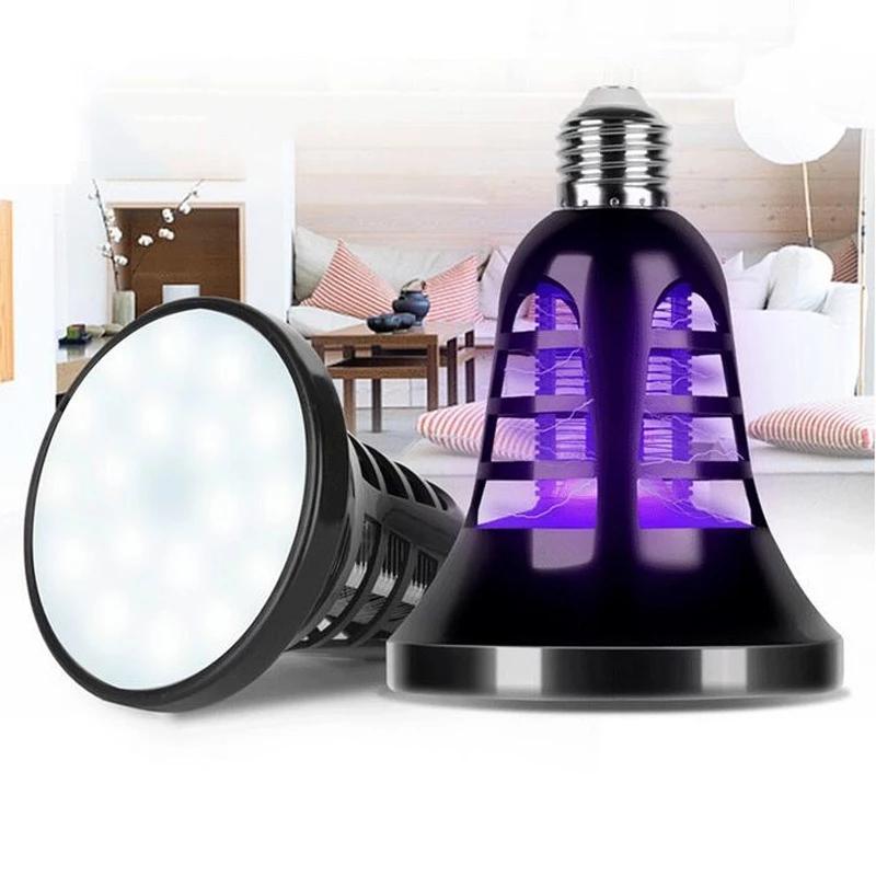 LED USB 충전식 모기 킬러 전구 램프 Protable 야외 캠핑 곤충 버그 트랩 야간 조명 2 in 1