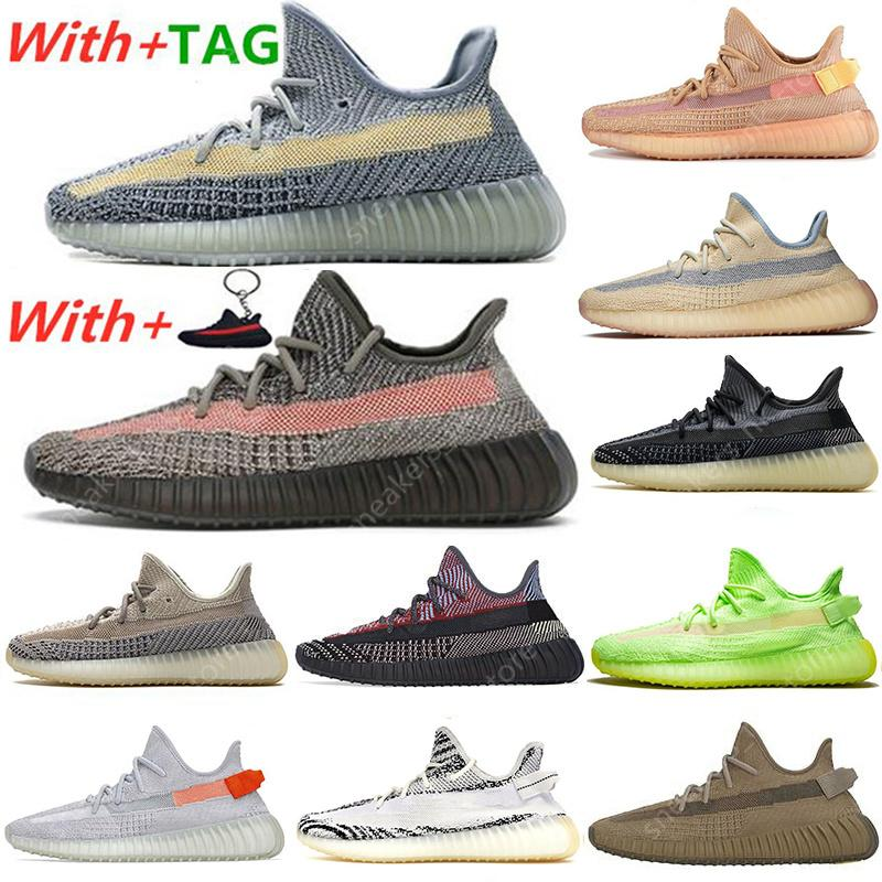 2021 New Kanye BIG SIZE 13 남성 여성 운동화 테일 라이트 Zyon Zebra Cinder Yecheil Israfil Asriel Clay Linen Trainers sneakers