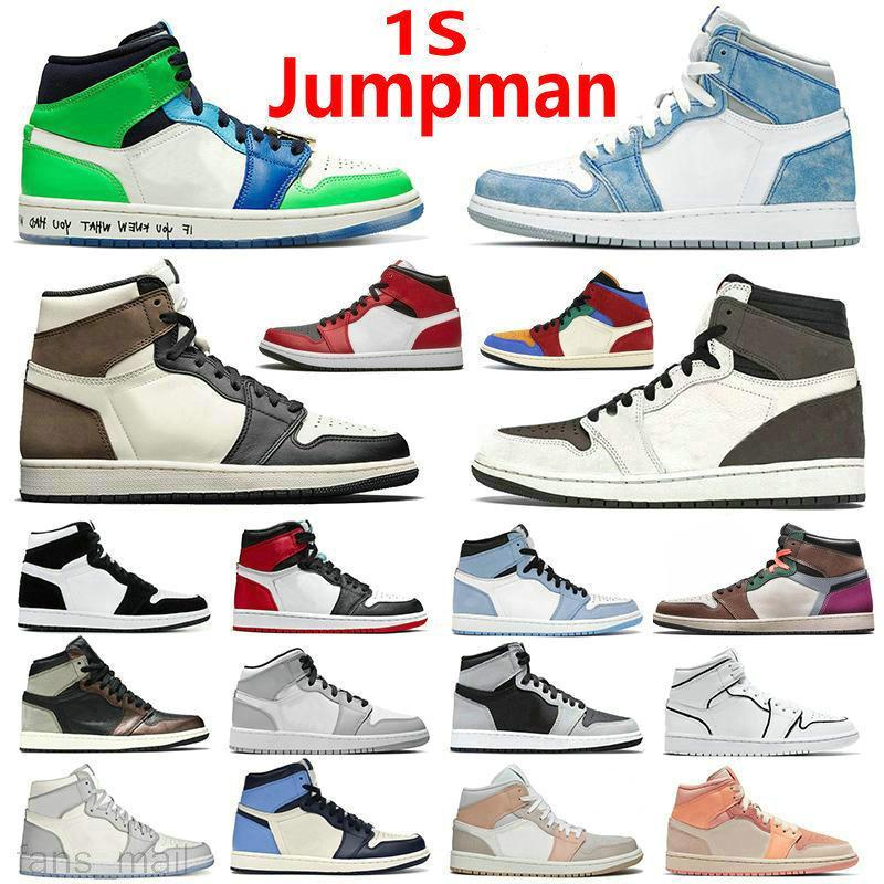Top Qualität Jumpman 1s Basketballschuhe 1 Black Toe High Dark Mokka Obsidian Unfärgige Patent Universität Blauer Rauch Grau Handarbeit Schatten Chicago Turnschuhe
