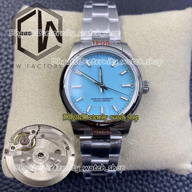 Eternity Woman Watches Super Version EWF 31mm 277200 EW3230 Automático Mecánico Turquoise Blue Dial Lady Watch pulido bisel 904l caja de acero pulsera 05500007