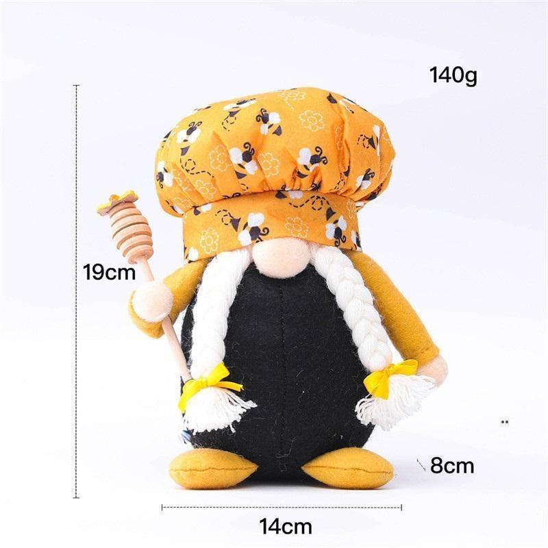 꿀벌 요리사 그놈 남자 여자 스칸디나비아 꿀 꿀벌 난쟁이 인형 얼굴이없는 꿀벌 홈 농가 부엌 장식 fwe8074