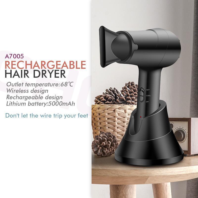 Pennelli per capelli elettrici per capelli wireless Asciugatrice Asciugacapelli Asciugacapelli Ricaricabile Styler Styler Professionista con diffusore