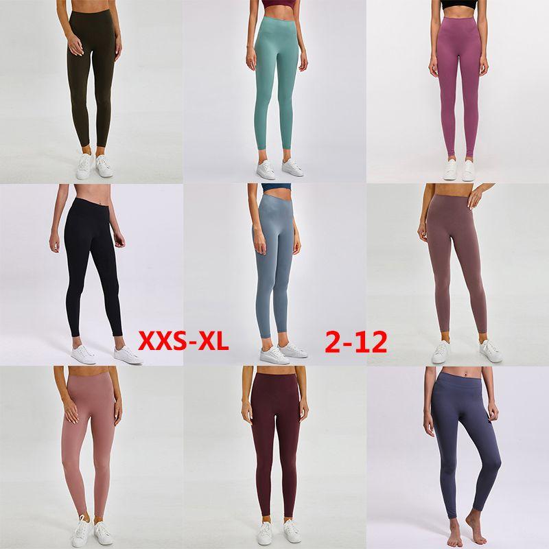 L85 Yoga Pantolon Legging Kıyafetler Katı Renk Kadın Tayt Yüksek Bel Spor Spor Giymek Elastik Fitness Bayan Giyim Genel Tam Sıkı
