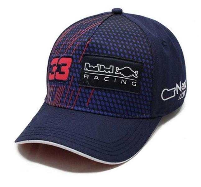 F1 Racing Hat 2021 Nouvelle broderie complète 33 casquette de baseball en équipe 33