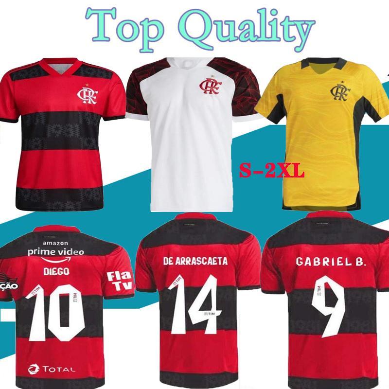 21 22 Flamengo Jersey 2021 2022 Guerrero Diego Vinicius JR 축구 유니폼 가브리엘 B 스포츠 축구 성인 남성과 여성 셔츠