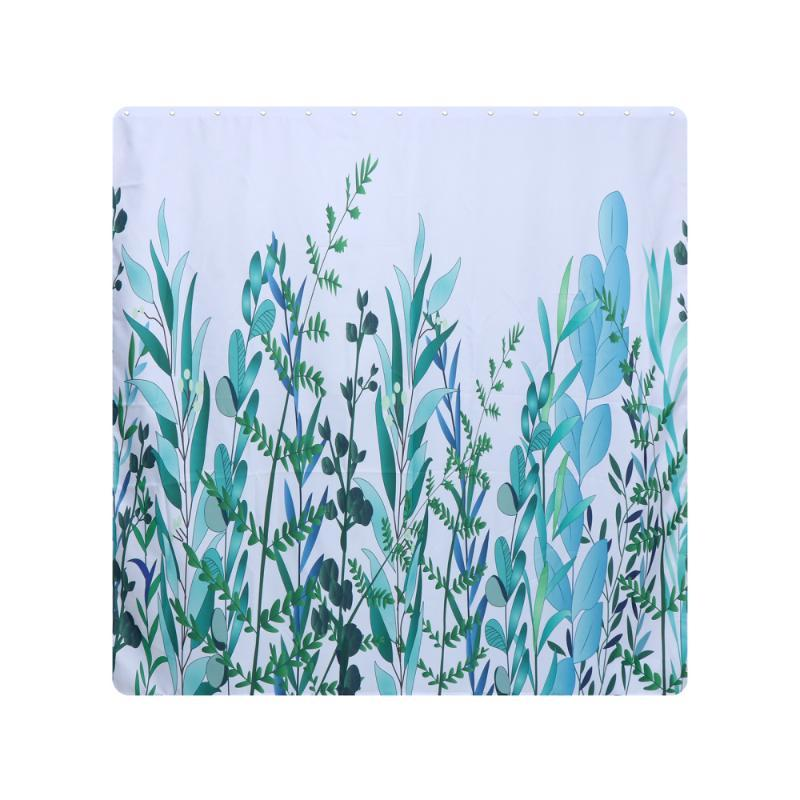 Duş perdeleri 1 adet su geçirmez perde polyester bitki baskılı banyo