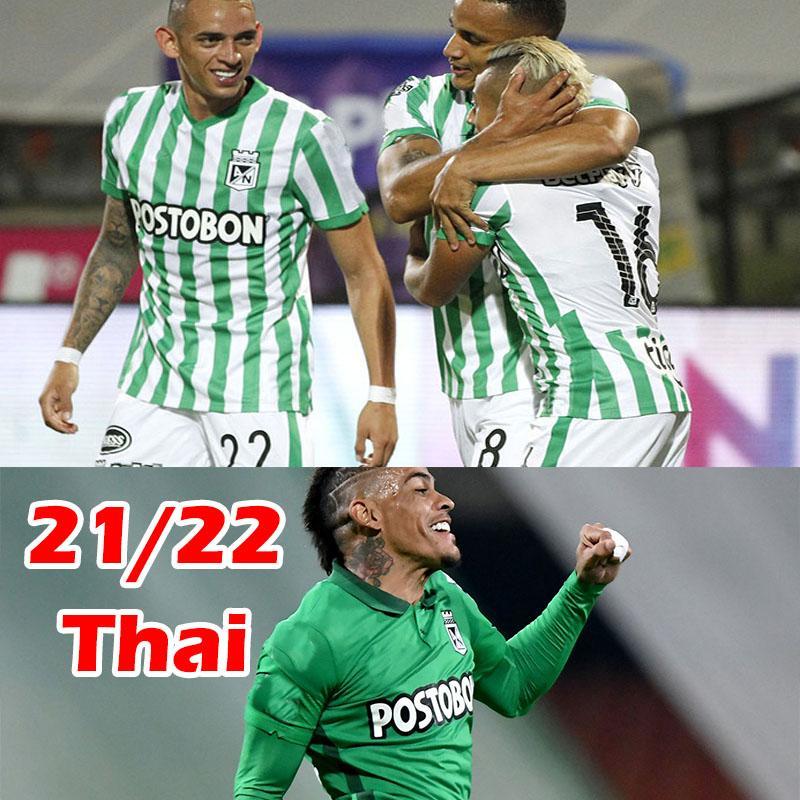 2021 2022 Atlético Nacional Soccer Jerseys Atletico Jersey 21 22 الرجال الصفحة الرئيسية قميص كرة القدم