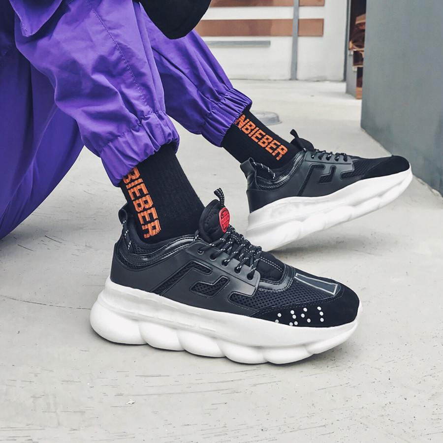 Удобные удары повседневные туфли холст платформы старый папа кожаный кроссовки для мужчин Женская роскошь мужская цепная реакция 1.0 Desingners на открытом воздухе