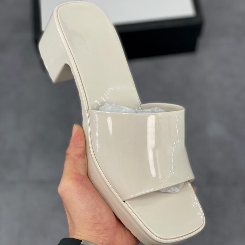 En Kaliteli Kadın Sandalet Lady Yaz Yüksek Tıknaz Topuk Slayt Sandal Beyaz Siyah Platformu Terlik Sarı Kırmızı Mavi Pembe Yeşil Ayakkabı
