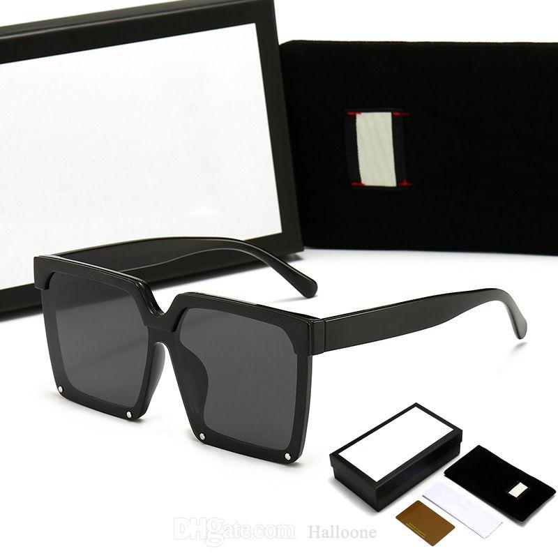 Klassische Luxus-Sonnenbrille Marke Design UV400 Eyewear Herren Womens Übergroße eckige Designer Sonnenbrille für Männer Frauenrahmen Polaroidglaslinse