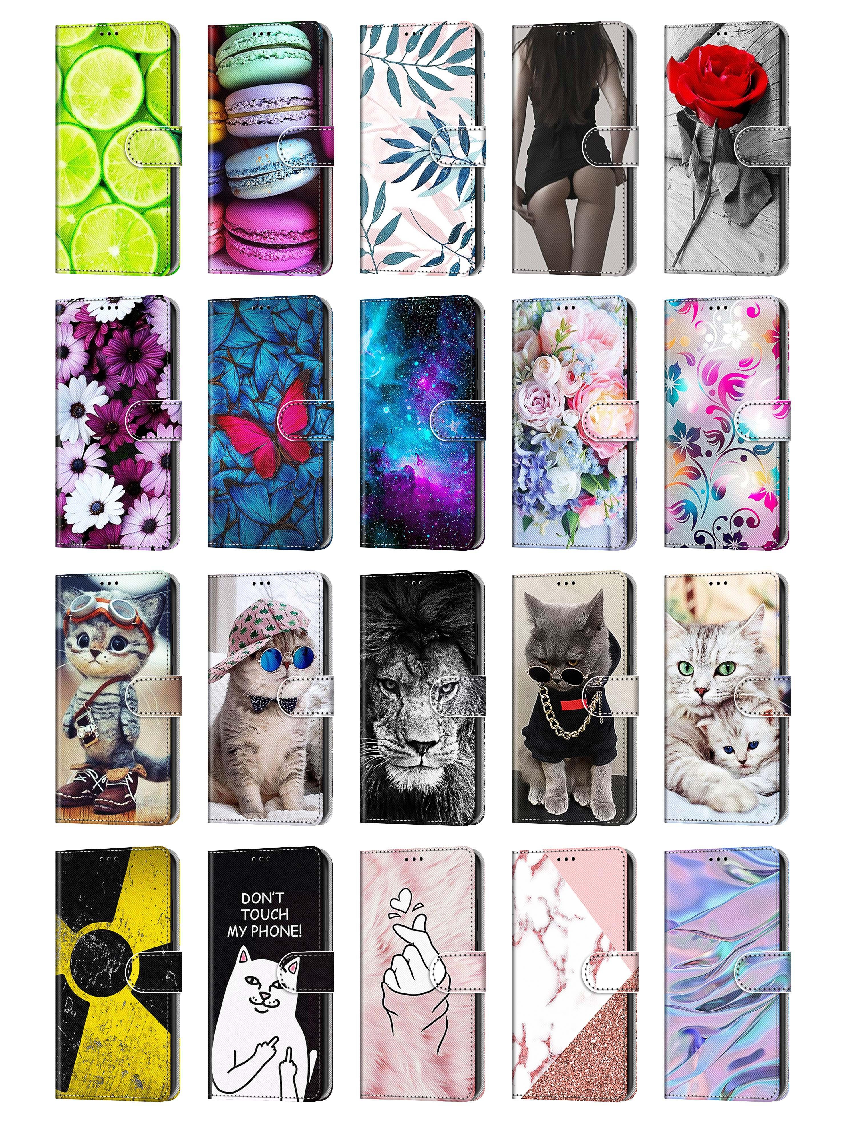 Linda capa de telefone borboleta para iphone 6 6s 7 8 mais 12 11 pro x xs xr max flip carteira cartão caça traseira
