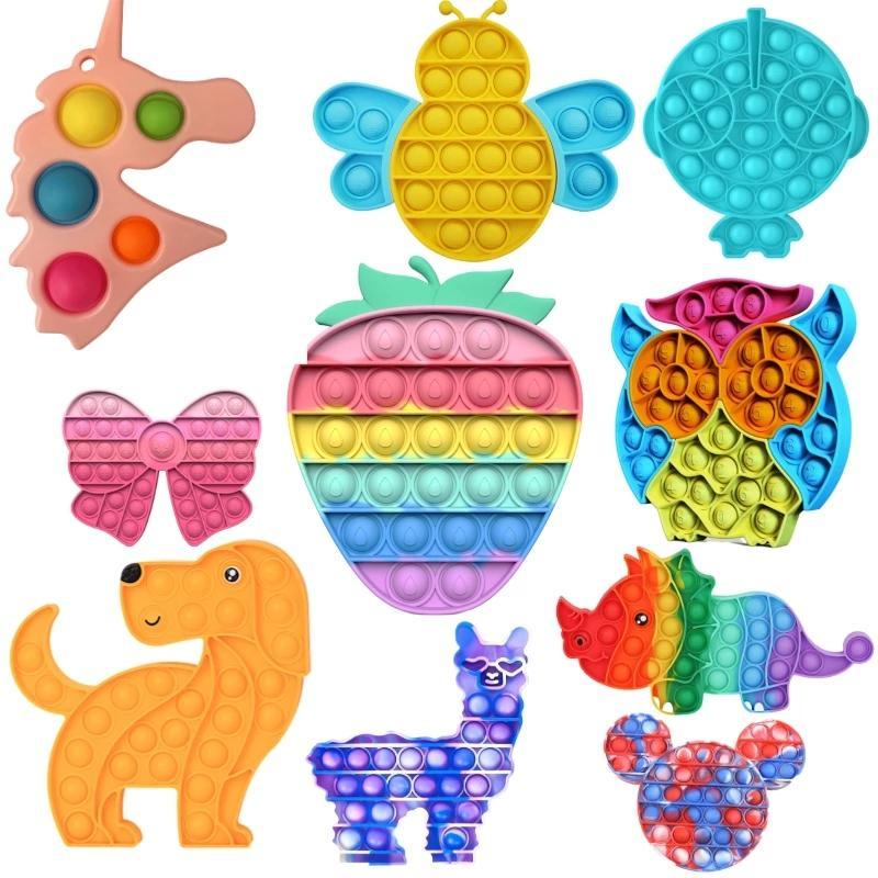 Didget Toys Pack Anti Stress Взрослые Детские Детские Мрамор Рельеф Подарок Push Bubble Сенсорные Антистрессные Игрушки
