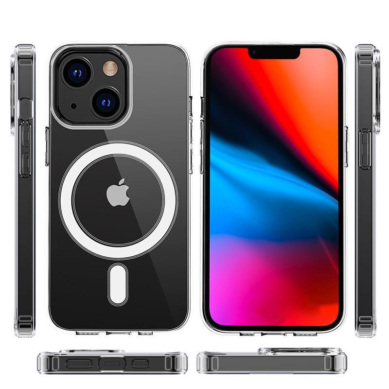 Magnetic MAGSAFE Transparent Clear Stoßfest Acryltelefonfälle für iPhone 12 11 PRO MAX XR XS X 8 7 Plus mit dem Einzelhandelspaket