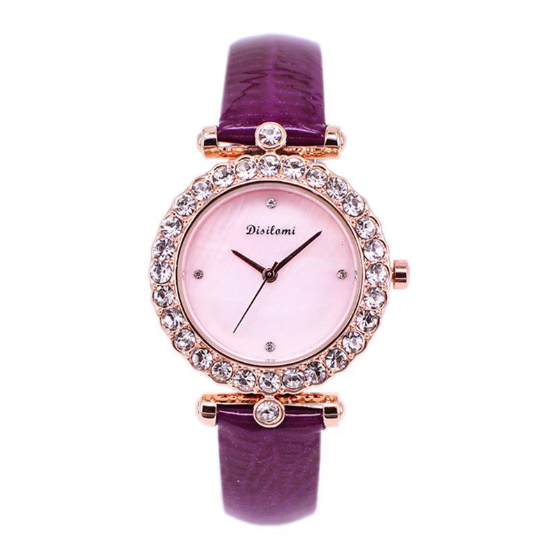Mode Nouveau Luxury Super Flash Crystal Plein Diamond Band de diamant Quartz 30M Women's Bracelet Watch
