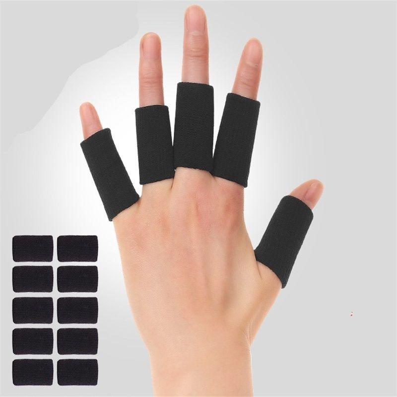 10 قطعة / المجموعة كرة السلة بسط النطاقات حماية اليد الحرس حامي يغطي الرياضة واقية الإصبع غطاء جودة عالية 692 Z2