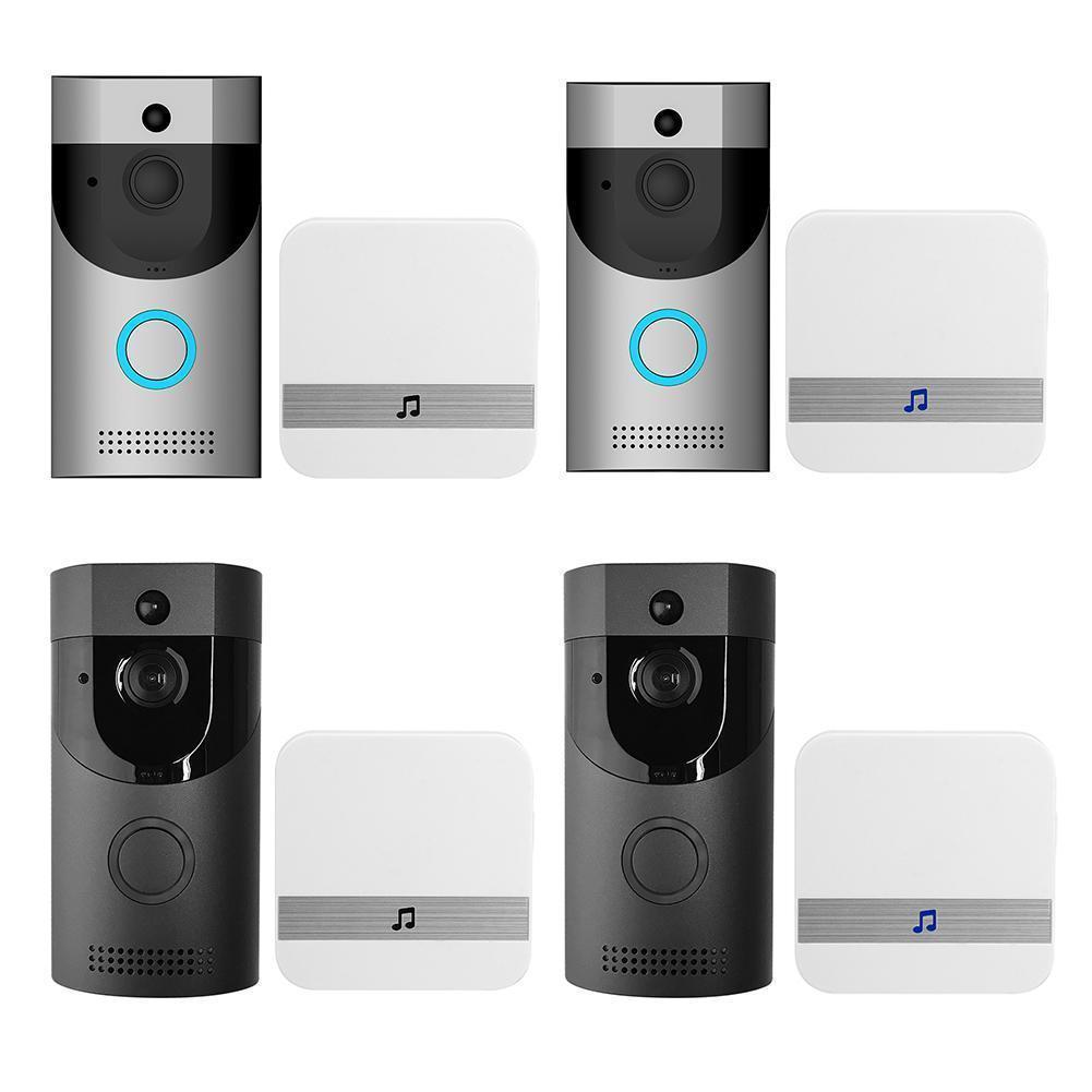 B30 WiFi Imperméable Video Smart Soorbell + B10 Récepteur PIR Alarme Wireless Intercom