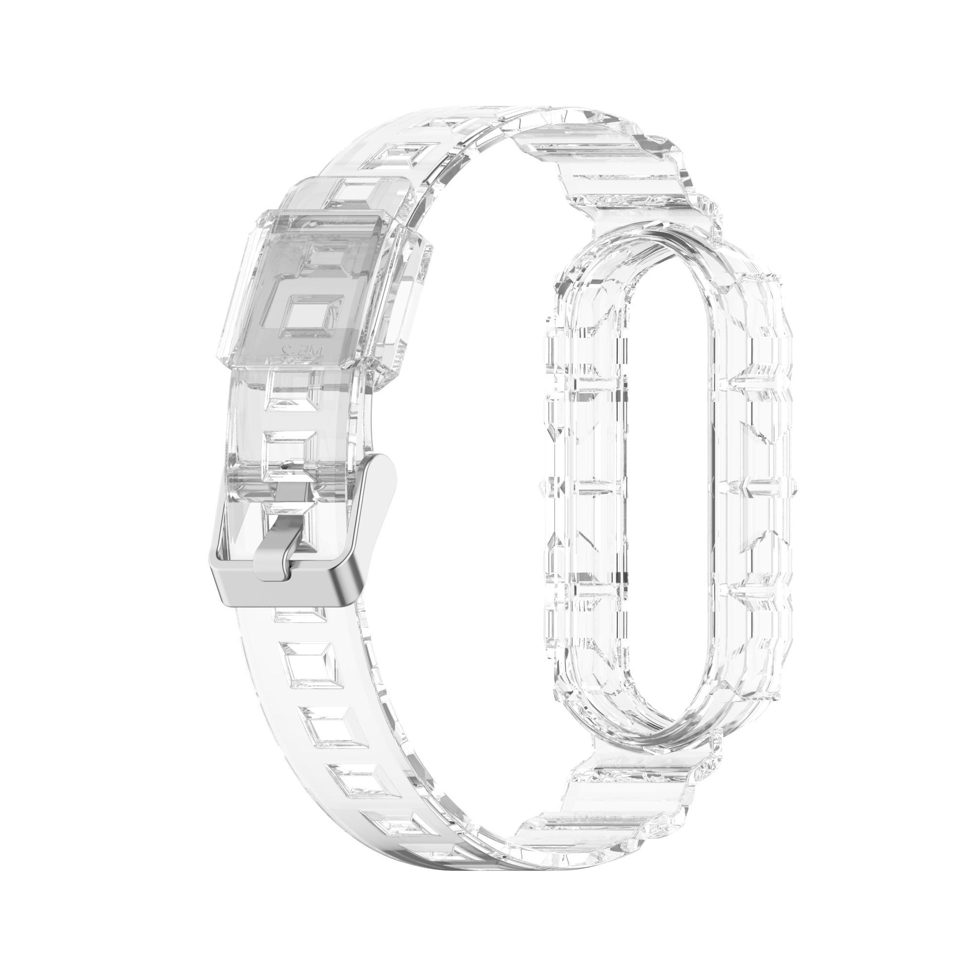 Ersatz TPU Clear Watch-Bands-Riemen und -tasche für Xiaomi MI-Band 4 Band3 50pcs / lot