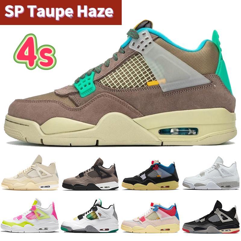أعلى 4 4S الرجال أحذية كرة السلة SP Taupe Haze White Oreo X Sail Bred Noir Guava Ice Rasta Mens Sneakers