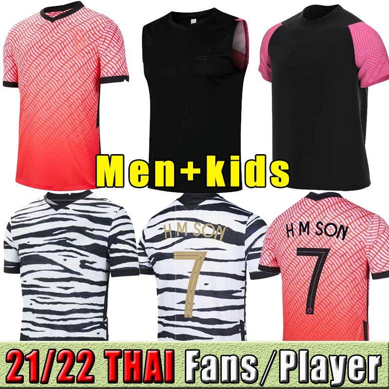 2021 2022 Sul de Futebol Jerseys Korea H M Filho Sul 20 21 Coréia Home Away Hyung Kim Lee Kim Ho Son Jersey Personalizado Homens Crianças Treinamento Camisas de Futebol Treinamento Treinamento