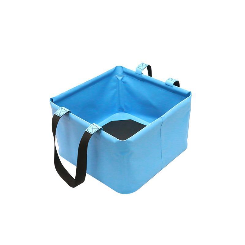 Godets seau pliable 18L pliage avec poignée de pêche de pêche camping multifonctionnel jardinage pour randonnée en plein air lavabo lavabo