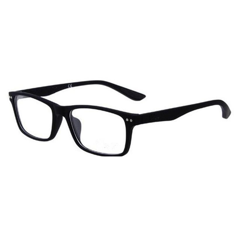 Marca clásica para lentes Marcos coloridos plástico marcos ópticos llanos gafas de gafas Negro 8145