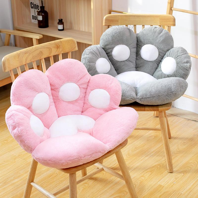 2 Größen Katze Bär Paw Plüschsitz Kissen Indoor Boden Gefüllte Sofa Bunte Tier Dekor Kissen Für Kinder Erwachsene Geschenk
