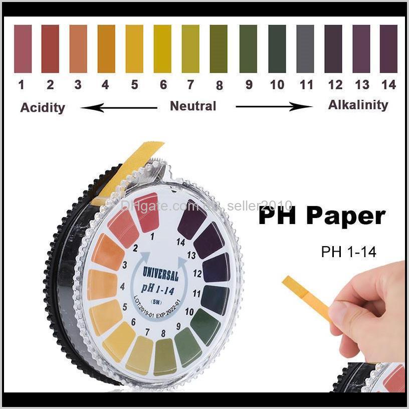 Metri Analizzatori Analisi di misurazione strumenti di studio Scuola di ufficio Azienda industriale Drop Consegna 2021 5m 1-14 PH Indicatore acido alcalino M