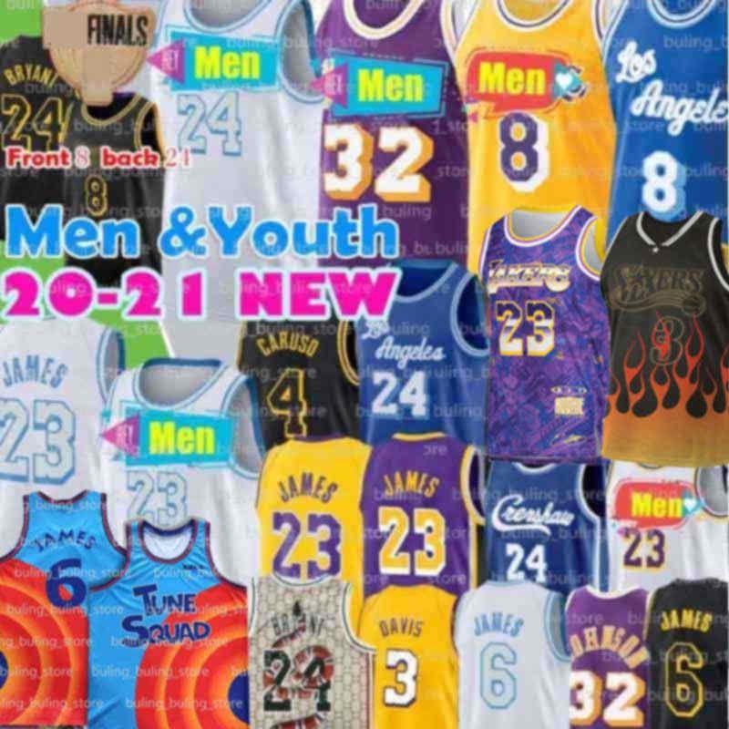 8 24 33 Bryant Jersey Alex Los Caruso Black Mamb Lebron 23 6 James AngelesLakers.Kobe.MVP Anthony Kyle Davis homens Kuzma Youth