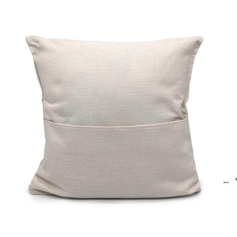 40 * 40cm sublimação Livro em branco Bolso Travesseiro Capa Sólida Cor DIY poliéster Linho de poliéster cobre decoração home cce8514